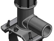 Tapping tee 160x40mm - PN16 - PE100 - E/F