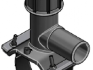 Tapping tee 160x50mm - PN16 - PE100 - E/F