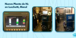 Instalación de Nueva Planta de Nitrógeno en Lucchetti, Macul – Región Metropolitana